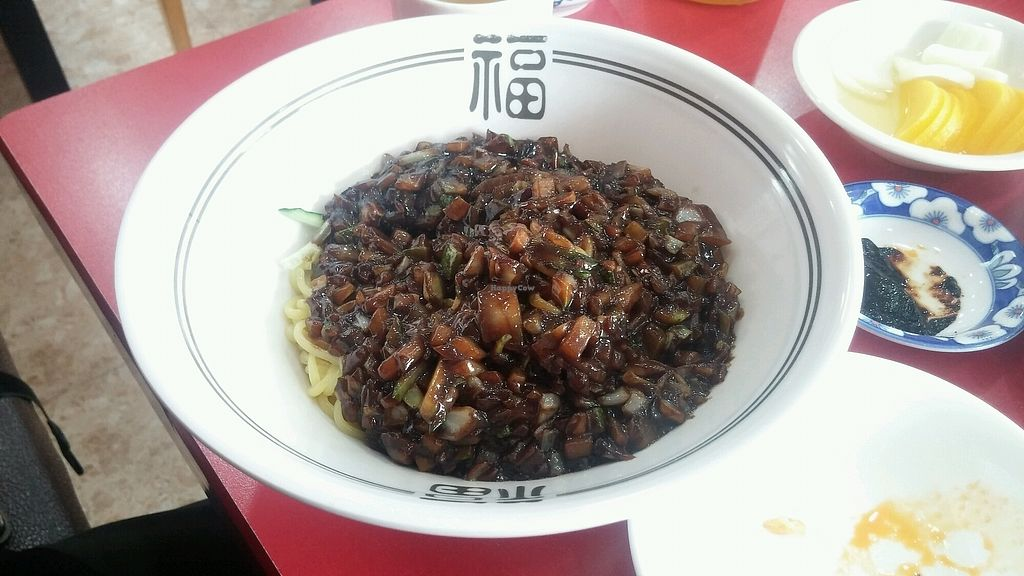 """Photo of HaGoong - 하궁  by <a href=""""/members/profile/ALee1990"""">ALee1990</a> <br/>vegan jajangmyun <br/> September 9, 2017  - <a href='/contact/abuse/image/84055/302312'>Report</a>"""