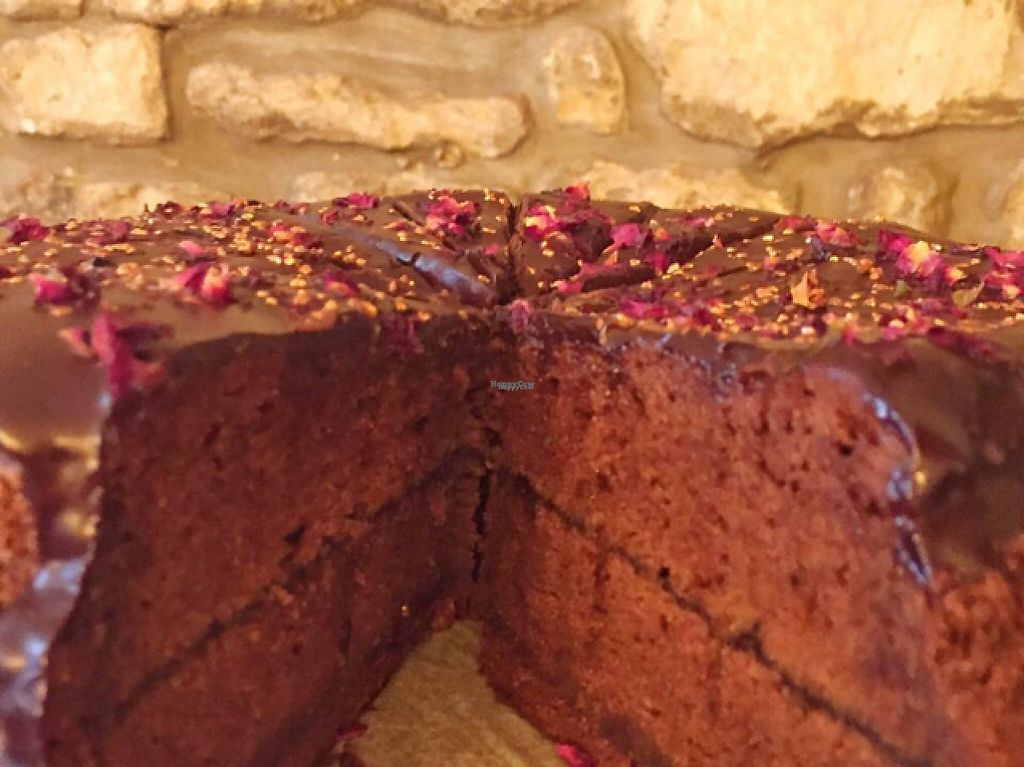 """Photo of Cascara  by <a href=""""/members/profile/VeggieFromSpace"""">VeggieFromSpace</a> <br/>Cascara vegan chocolate supreme cake <br/> April 16, 2017  - <a href='/contact/abuse/image/84081/248845'>Report</a>"""