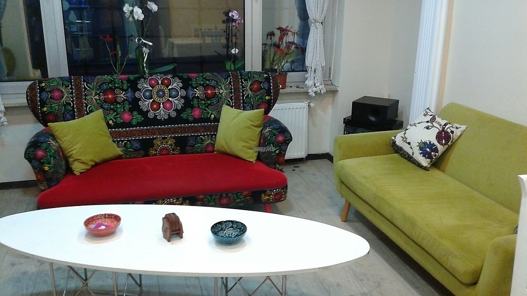 """Photo of Vegan Istanbul  by <a href=""""/members/profile/Dharlene"""">Dharlene</a> <br/>Additional seating up in the market section.  <br/> February 9, 2017  - <a href='/contact/abuse/image/84083/224523'>Report</a>"""
