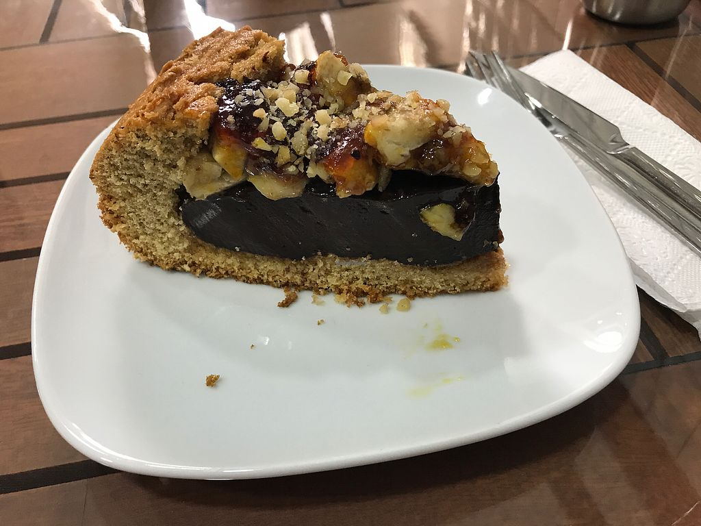 """Photo of Vegan Istanbul  by <a href=""""/members/profile/veganoteacher"""">veganoteacher</a> <br/>Vegan Cake filled with vegan chocolate  <br/> July 9, 2017  - <a href='/contact/abuse/image/84083/278112'>Report</a>"""