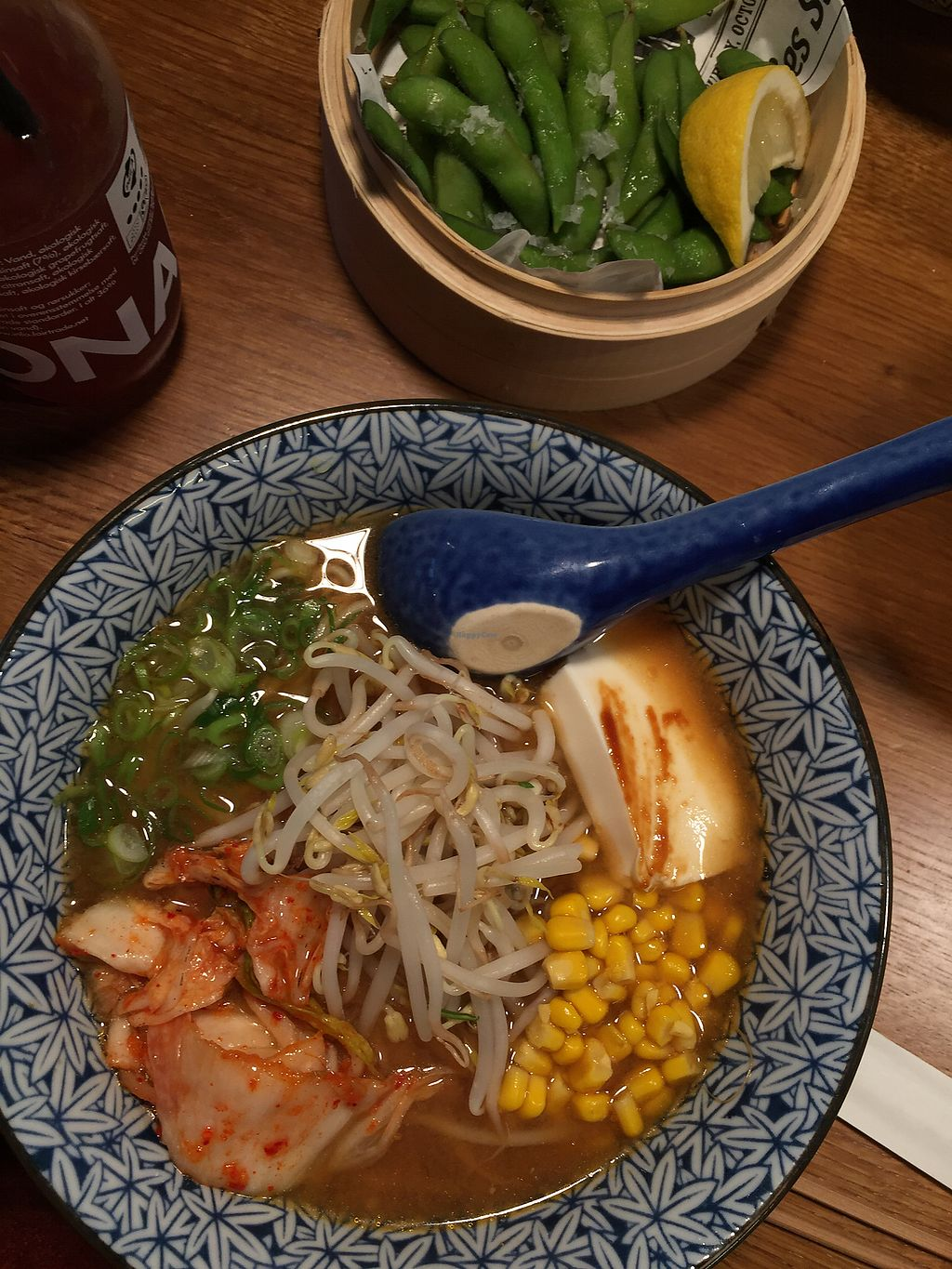"""Photo of Papa Ramen - Studiestræde  by <a href=""""/members/profile/greenx"""">greenx</a> <br/>Vegan Ramen with Edamame <br/> October 27, 2017  - <a href='/contact/abuse/image/84123/319276'>Report</a>"""