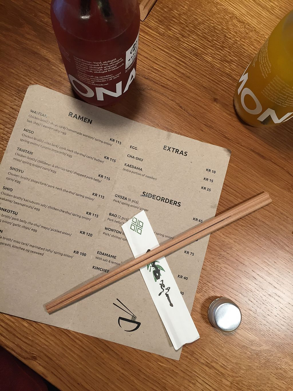 """Photo of Papa Ramen - Studiestræde  by <a href=""""/members/profile/greenx"""">greenx</a> <br/>Menu options  <br/> October 27, 2017  - <a href='/contact/abuse/image/84123/319277'>Report</a>"""