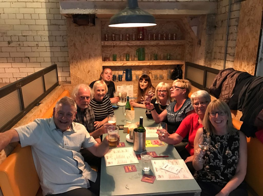 """Photo of Bundobust  by <a href=""""/members/profile/AdrienneStocks"""">AdrienneStocks</a> <br/>happy group awaiting their food  <br/> May 14, 2017  - <a href='/contact/abuse/image/84132/258628'>Report</a>"""