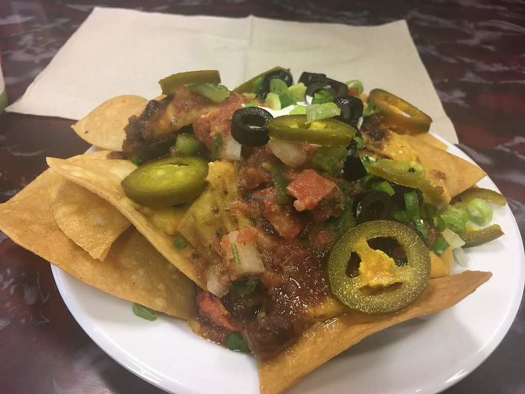 """Photo of Sanctuary Vegan Cafe  by <a href=""""/members/profile/AlexandraPhillips"""">AlexandraPhillips</a> <br/>Small plate nachos  <br/> December 29, 2017  - <a href='/contact/abuse/image/84135/340274'>Report</a>"""