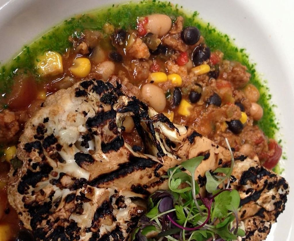 """Photo of Bluegrass Kitchen  by <a href=""""/members/profile/repairguy"""">repairguy</a> <br/>Cauliflower steak w/black bean stew <br/> April 6, 2016  - <a href='/contact/abuse/image/8413/233717'>Report</a>"""