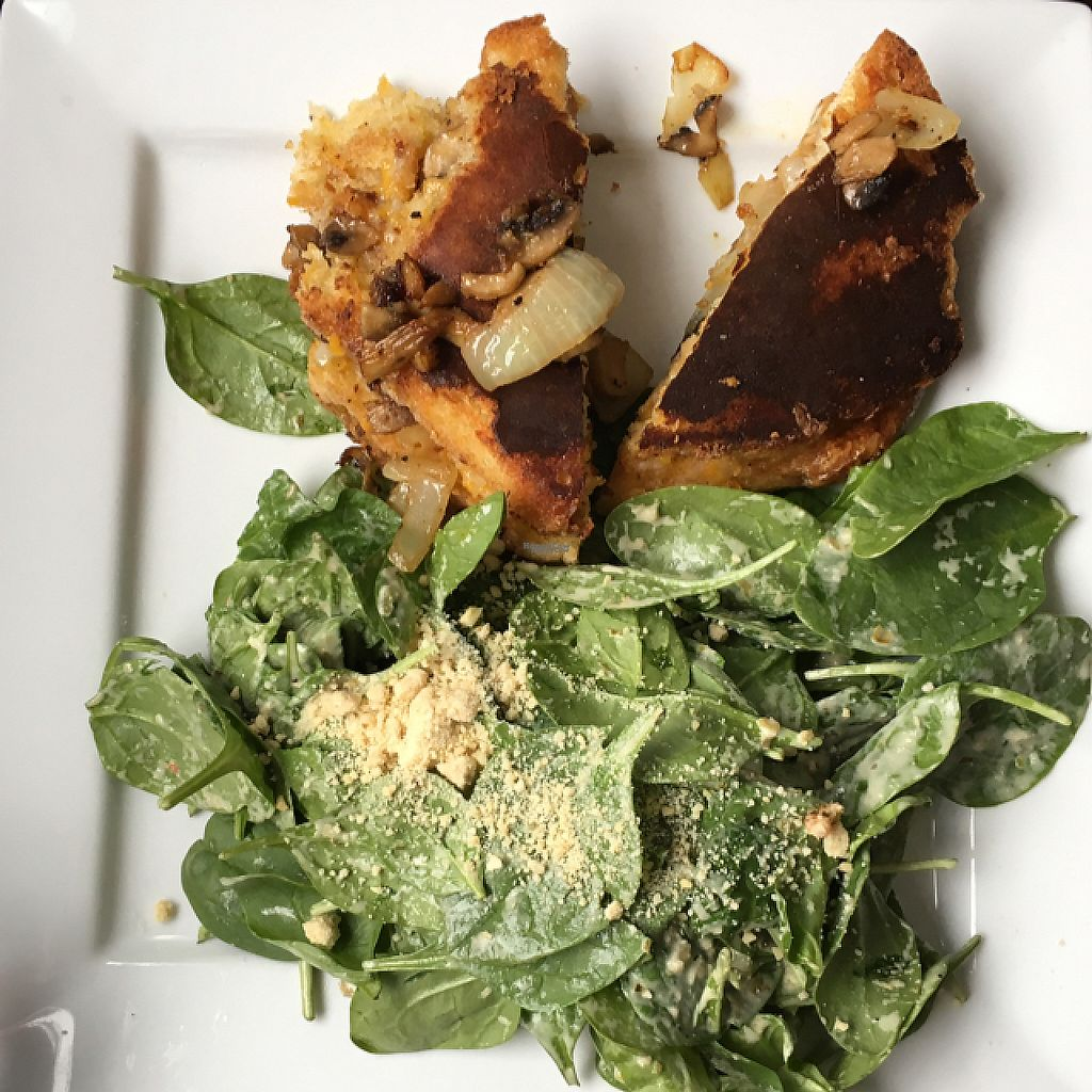"""Photo of Vegano  by <a href=""""/members/profile/KristenMary"""">KristenMary</a> <br/>grilled cheeze w/side salad <br/> April 17, 2017  - <a href='/contact/abuse/image/84140/249339'>Report</a>"""
