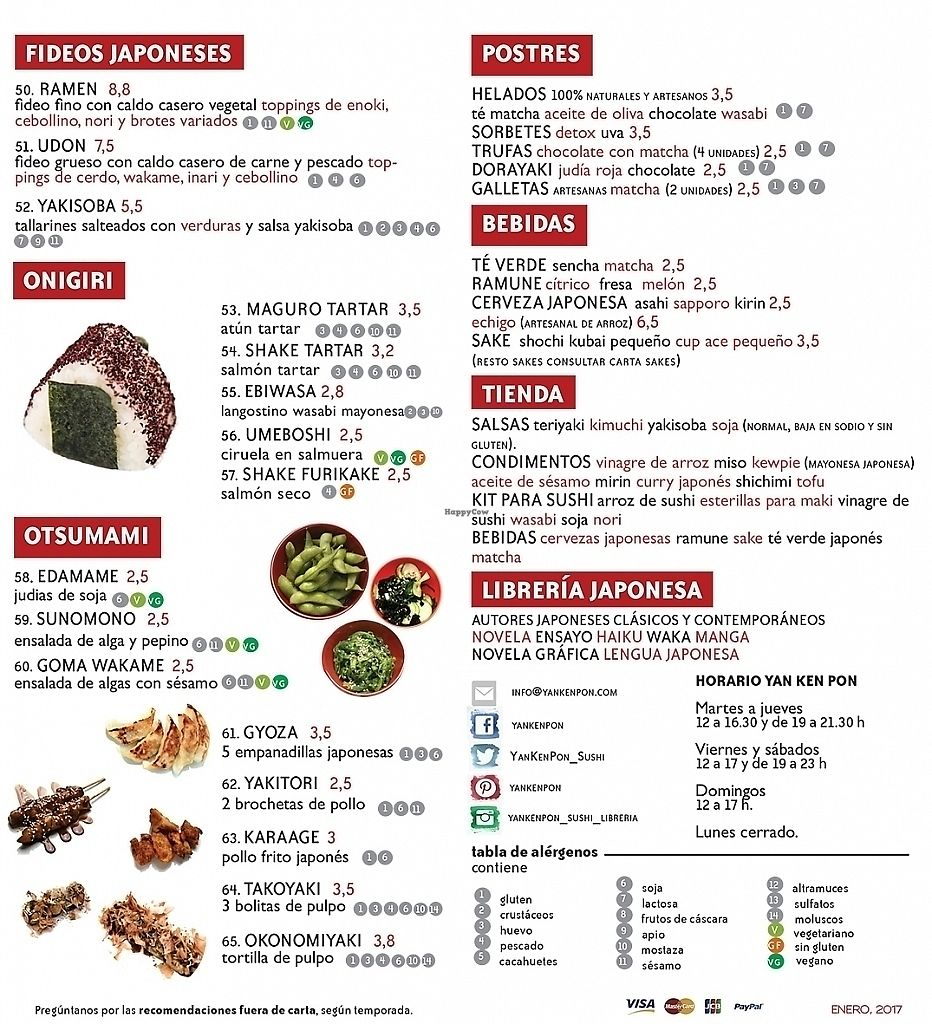 """Photo of Yakenpon  by <a href=""""/members/profile/martinicontomate"""">martinicontomate</a> <br/>Menu 2 - vegan options labelled as VG <br/> June 17, 2017  - <a href='/contact/abuse/image/84143/270110'>Report</a>"""