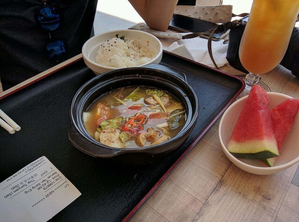 """Photo of Touch Veggie Delight  by <a href=""""/members/profile/Summer_Tan"""">Summer_Tan</a> <br/>Thai TomYum Set Meal <br/> January 27, 2018  - <a href='/contact/abuse/image/84145/351662'>Report</a>"""