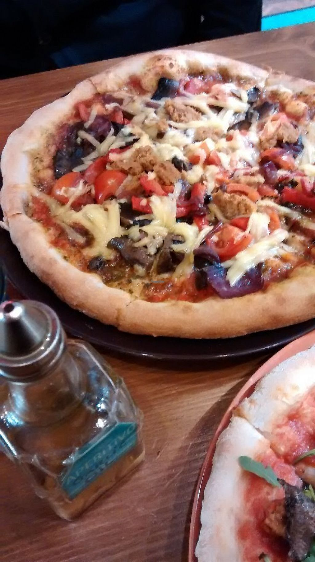"""Photo of Aperitivo  by <a href=""""/members/profile/BlisterBlue"""">BlisterBlue</a> <br/>Vegan pizza with extra sausage and cheese <br/> December 22, 2016  - <a href='/contact/abuse/image/84146/204104'>Report</a>"""