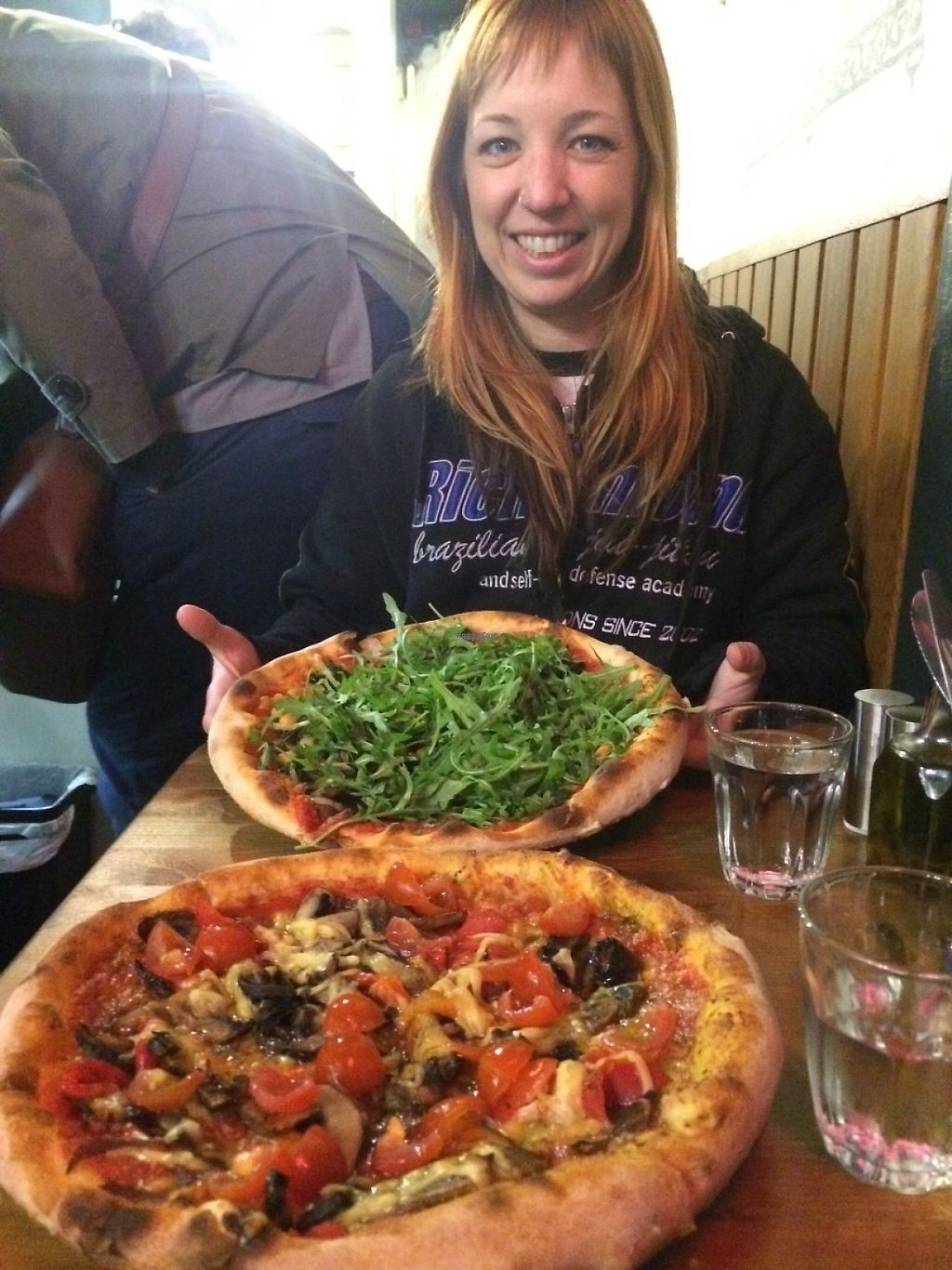 """Photo of Aperitivo  by <a href=""""/members/profile/NikkiStitch"""">NikkiStitch</a> <br/>2 vegan pizzas <br/> April 27, 2017  - <a href='/contact/abuse/image/84146/252928'>Report</a>"""