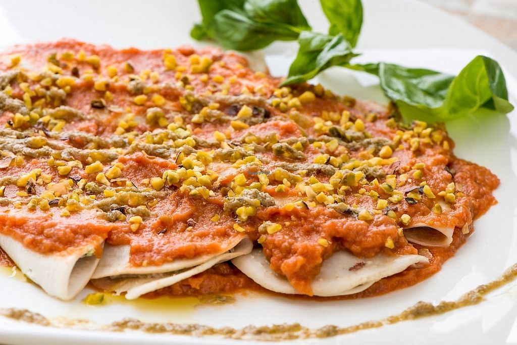 """Photo of HappyRaw Natural Restaurant  by <a href=""""/members/profile/HappyRawFaenza"""">HappyRawFaenza</a> <br/>ravioli al sugo <br/> May 5, 2017  - <a href='/contact/abuse/image/84156/255852'>Report</a>"""