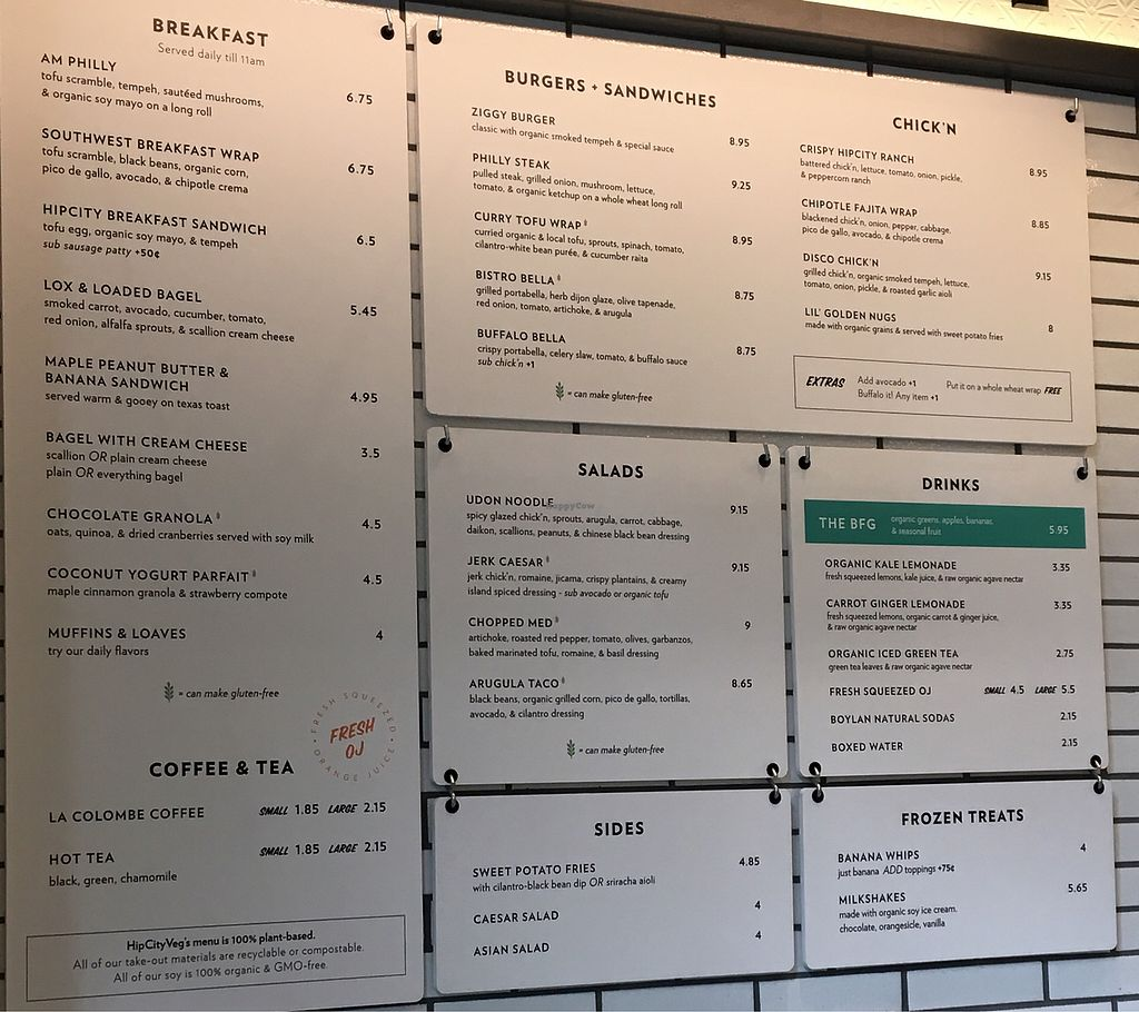 """Photo of HipCityVeg - Broad St  by <a href=""""/members/profile/Thepennsyltuckyvegan"""">Thepennsyltuckyvegan</a> <br/>so many choices!!! <br/> June 21, 2017  - <a href='/contact/abuse/image/84195/271949'>Report</a>"""