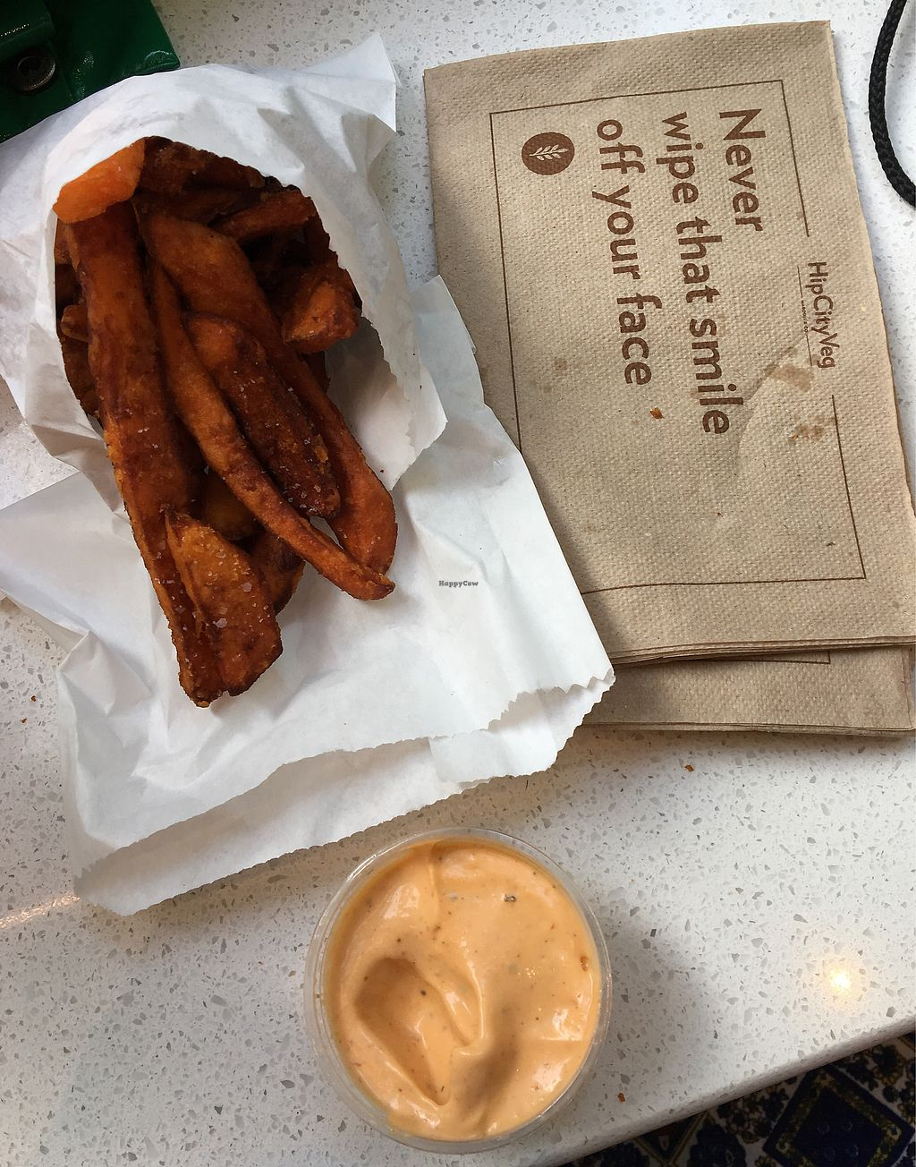 """Photo of HipCityVeg - Broad St  by <a href=""""/members/profile/Thepennsyltuckyvegan"""">Thepennsyltuckyvegan</a> <br/>sweet potato fries and siracha aoli  <br/> June 21, 2017  - <a href='/contact/abuse/image/84195/271950'>Report</a>"""