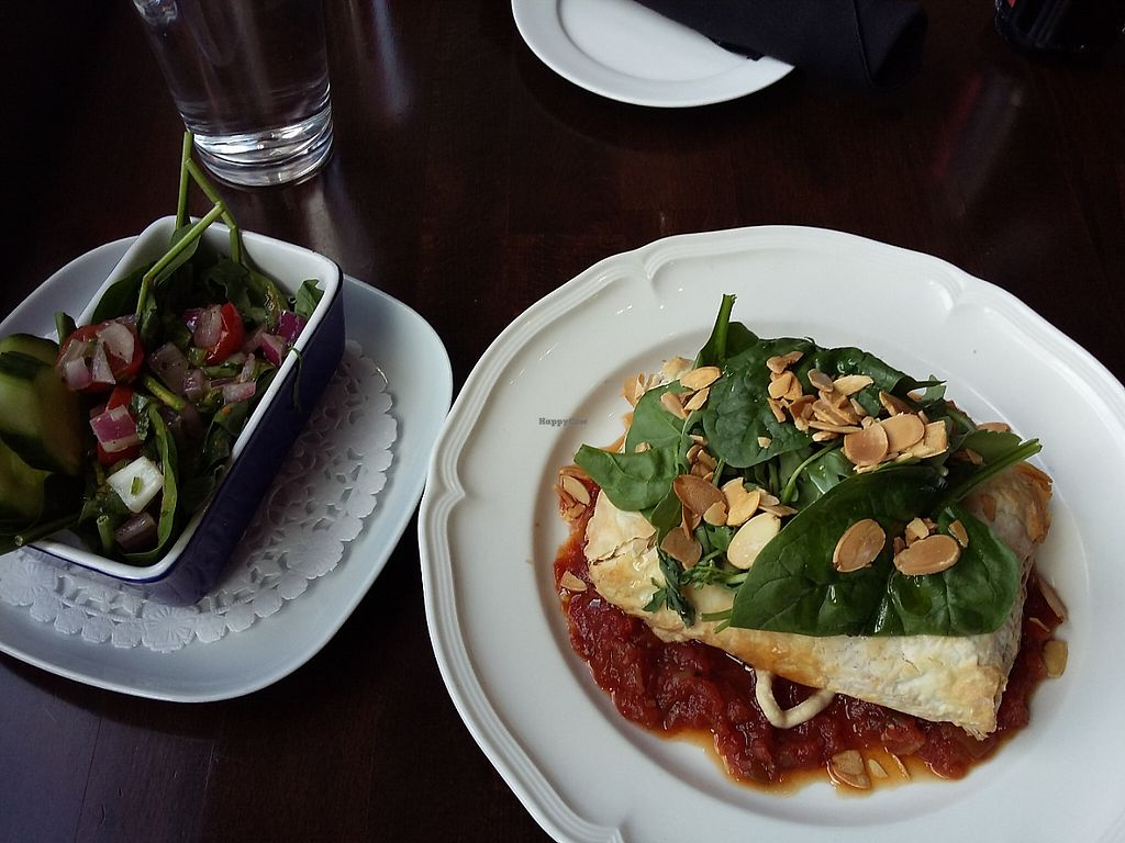 "Photo of The Raven Bistro  by <a href=""/members/profile/Peanuts"">Peanuts</a> <br/>The chickpea strudel with a side salad  <br/> May 23, 2017  - <a href='/contact/abuse/image/84201/261610'>Report</a>"