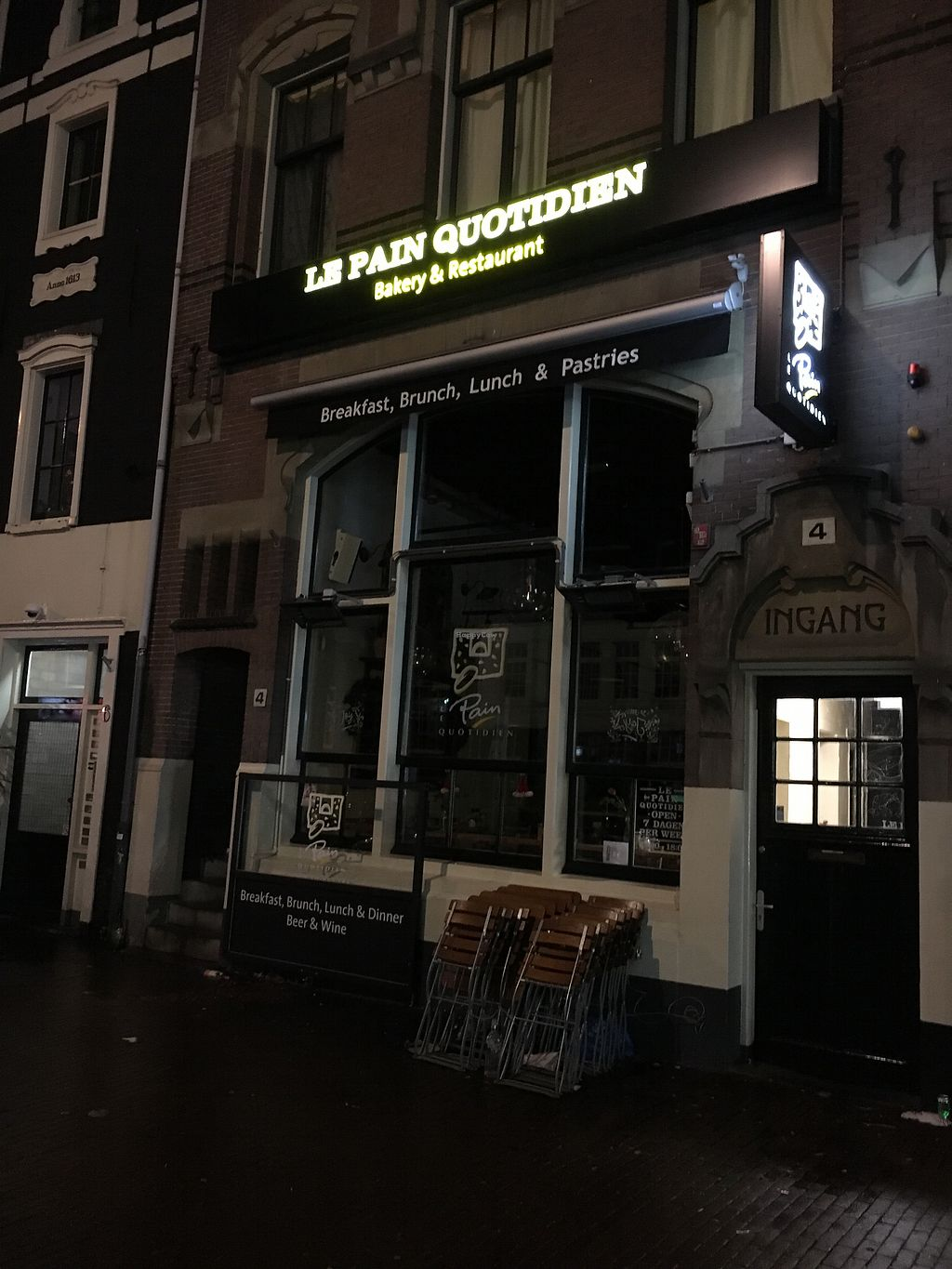 "Photo of Le Pain Quotidien - Nieuwezijds  by <a href=""/members/profile/hack_man"">hack_man</a> <br/>Exterior  <br/> January 2, 2018  - <a href='/contact/abuse/image/84213/341832'>Report</a>"