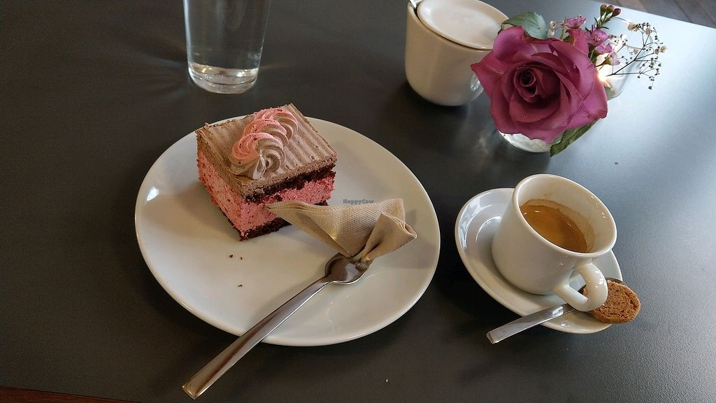 "Photo of Muellers Cafe  by <a href=""/members/profile/Fedi."">Fedi.</a> <br/>Vegan Cherry Creme Cake and Espresso. ♥ <br/> February 10, 2018  - <a href='/contact/abuse/image/84218/357592'>Report</a>"
