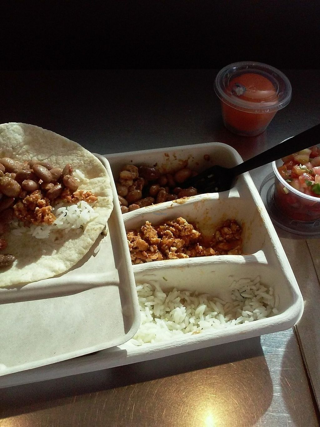 """Photo of Chipotle   by <a href=""""/members/profile/anastronomy"""">anastronomy</a> <br/>The build your own Kid's meal. I think it's the perfect portion size for me. The pico de gallo on the side complements the tacos.  <br/> January 21, 2017  - <a href='/contact/abuse/image/84240/214369'>Report</a>"""