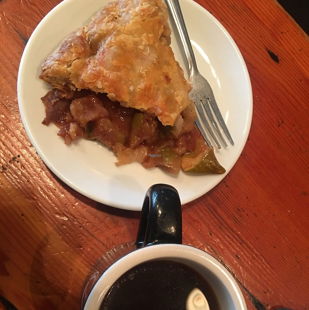 """Photo of Random Order Pie Bar  by <a href=""""/members/profile/Arthousebill"""">Arthousebill</a> <br/>coffee and apple pie <br/> February 14, 2017  - <a href='/contact/abuse/image/84269/226558'>Report</a>"""