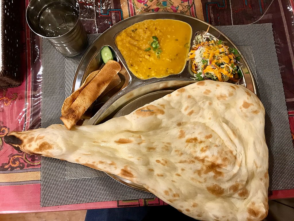 "Photo of Namaste  by <a href=""/members/profile/Vegansteffi"">Vegansteffi</a> <br/>Dal curry with a big naan <br/> July 30, 2017  - <a href='/contact/abuse/image/84278/286646'>Report</a>"