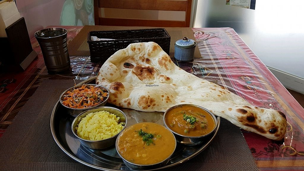 "Photo of Namaste  by <a href=""/members/profile/aggiem"">aggiem</a> <br/>Lunch special, B-set with daal and mixed veggie curry <br/> August 25, 2017  - <a href='/contact/abuse/image/84278/296919'>Report</a>"