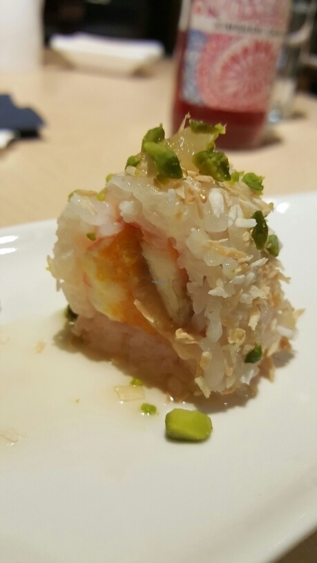 "Photo of MakiMaki Sushi Green  by <a href=""/members/profile/TinaEstrella"">TinaEstrella</a> <br/>sweet inside out dessert with pistachio, coconut, banana <br/> December 21, 2016  - <a href='/contact/abuse/image/84303/203812'>Report</a>"