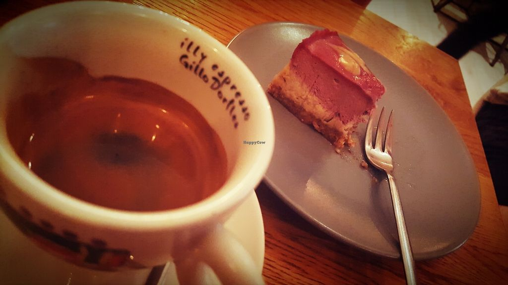 """Photo of Coffe&Cake  by <a href=""""/members/profile/pezmaz"""">pezmaz</a> <br/>Double espresso and Raw cake <br/> August 16, 2017  - <a href='/contact/abuse/image/84304/293223'>Report</a>"""