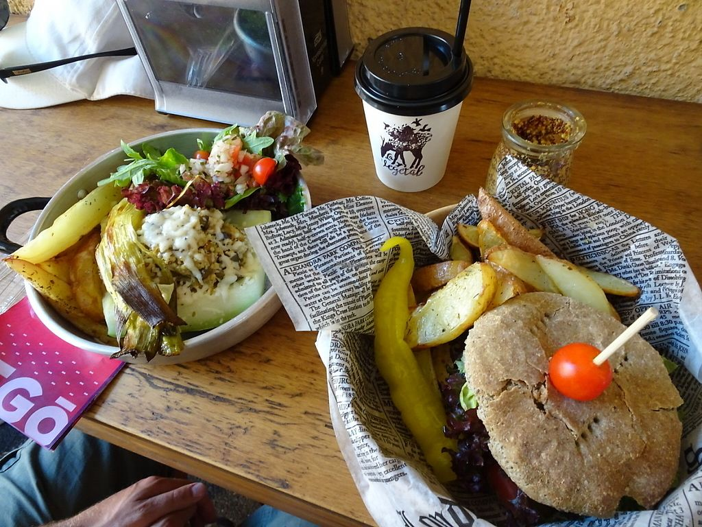 """Photo of CLOSED: La Vegetal  by <a href=""""/members/profile/EmilyNoelle"""">EmilyNoelle</a> <br/>Zucchini and millet, and vegan burger.  <br/> February 1, 2017  - <a href='/contact/abuse/image/84309/220637'>Report</a>"""