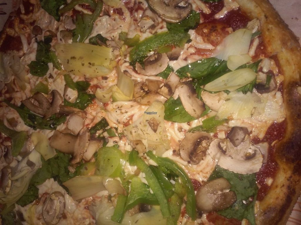 "Photo of Blaze Pizza  by <a href=""/members/profile/anastronomy"">anastronomy</a> <br/>Build your own pizza with mushrooms, bell peppers, artichoke, and spinach  <br/> March 12, 2017  - <a href='/contact/abuse/image/84310/235323'>Report</a>"