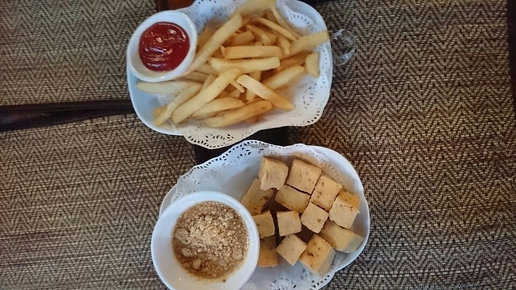 """Photo of Natural Restaurant  by <a href=""""/members/profile/Primrose"""">Primrose</a> <br/>Fried tofu & Fries  <br/> February 18, 2017  - <a href='/contact/abuse/image/84315/227831'>Report</a>"""