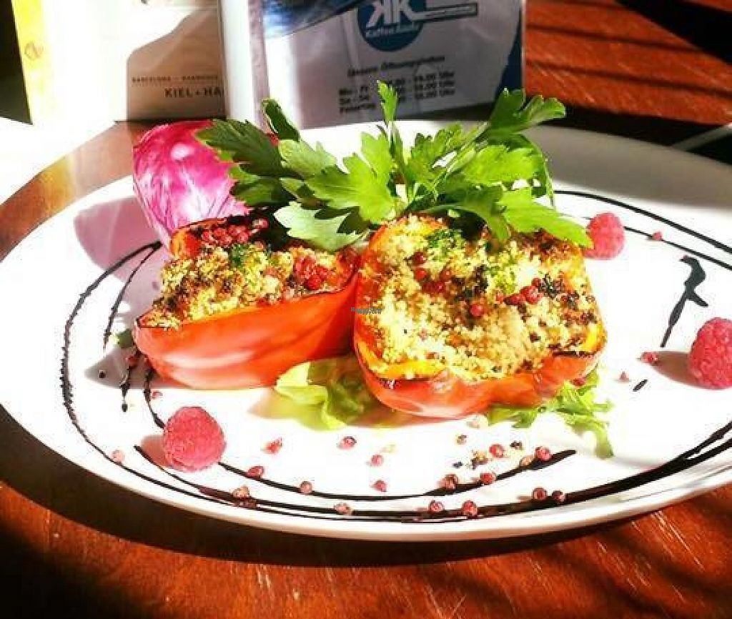 "Photo of Kaffeeküche  by <a href=""/members/profile/community"">community</a> <br/>Kaffeekuche is a breakfast & brunch restaurant in Neubrandenburg, Germany. Here is a plate of Stuffed peppers with Couscous on Marinated Salad <br/> January 23, 2017  - <a href='/contact/abuse/image/84318/215287'>Report</a>"