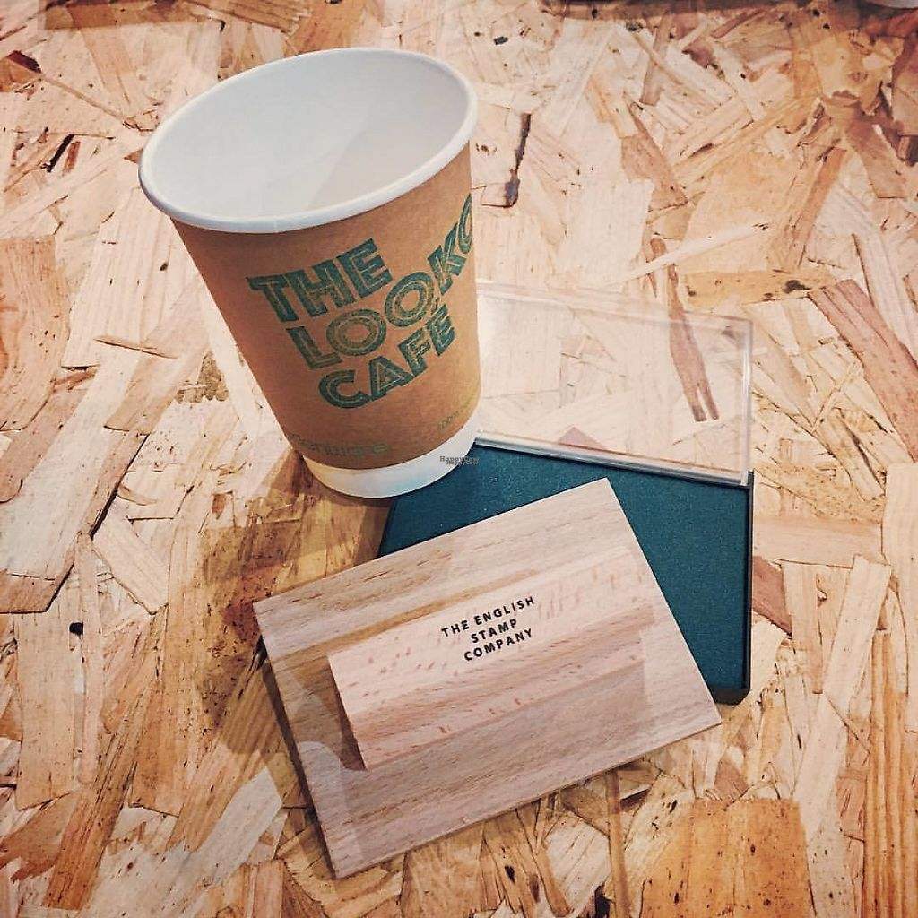 """Photo of The Lookout Juice Bar  by <a href=""""/members/profile/Uniquerkw"""">Uniquerkw</a> <br/>Logo compostable cup <br/> December 31, 2016  - <a href='/contact/abuse/image/84320/206474'>Report</a>"""
