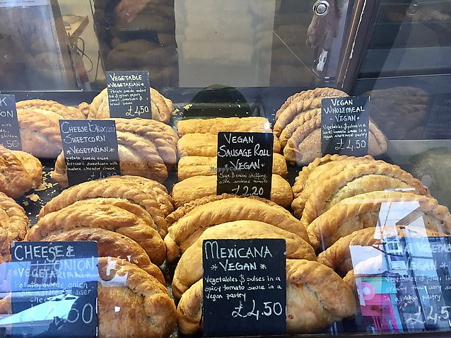 """Photo of Our Cornish Pasty Shop  by <a href=""""/members/profile/Sundeez"""">Sundeez</a> <br/>some of the vegan pasty options  <br/> June 17, 2017  - <a href='/contact/abuse/image/84324/270214'>Report</a>"""