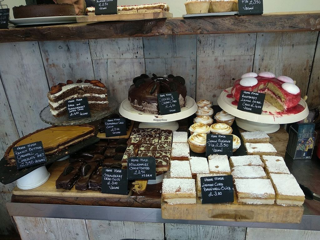 """Photo of Our Cornish Pasty Shop  by <a href=""""/members/profile/Miggi"""">Miggi</a> <br/>Selection of vegan cakes <br/> April 15, 2018  - <a href='/contact/abuse/image/84324/386420'>Report</a>"""