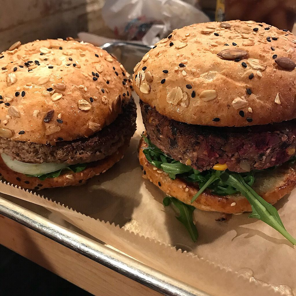 """Photo of Hopdoddy Burger Bar  by <a href=""""/members/profile/MeganCasas"""">MeganCasas</a> <br/>The impossible burger and La Bandita, vegan style on wheat <br/> February 13, 2018  - <a href='/contact/abuse/image/84331/358699'>Report</a>"""