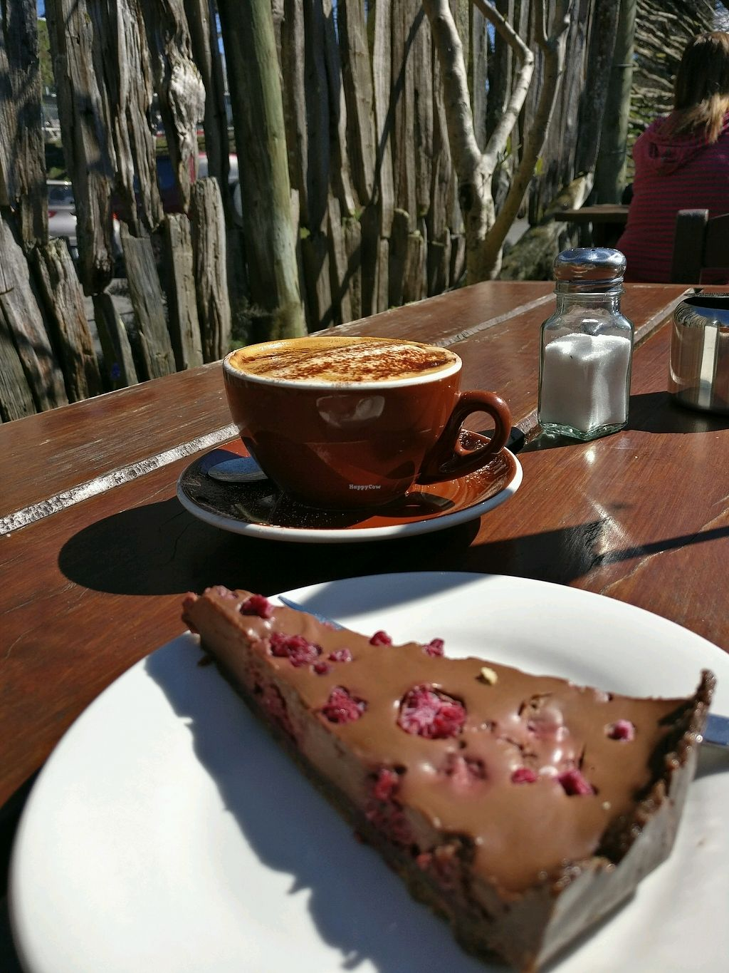 """Photo of Brown Sugar Cafe  by <a href=""""/members/profile/Aloo"""">Aloo</a> <br/>chocolate raspberry torte with soy cap <br/> September 14, 2017  - <a href='/contact/abuse/image/84363/304537'>Report</a>"""