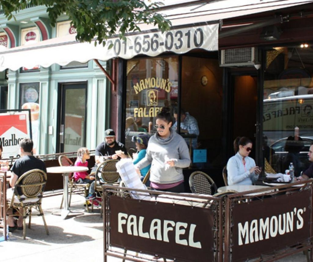 """Photo of Mamoun's Falafel  by <a href=""""/members/profile/community"""">community</a> <br/>Mamoun's Falafel <br/> May 19, 2015  - <a href='/contact/abuse/image/8436/212275'>Report</a>"""