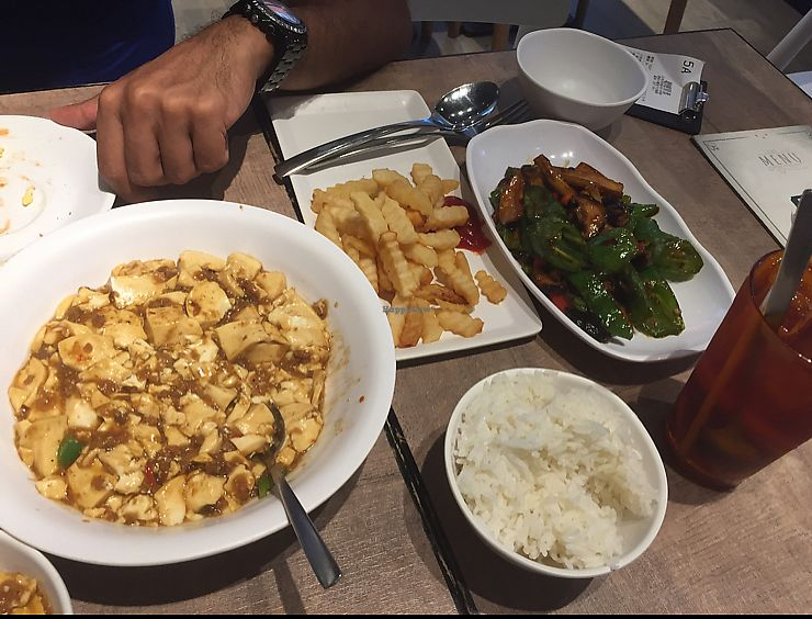 """Photo of Veggie Express  by <a href=""""/members/profile/Ashni"""">Ashni</a> <br/>spicy tofu, mushroom and hot peppers dish  <br/> October 7, 2017  - <a href='/contact/abuse/image/84378/312717'>Report</a>"""