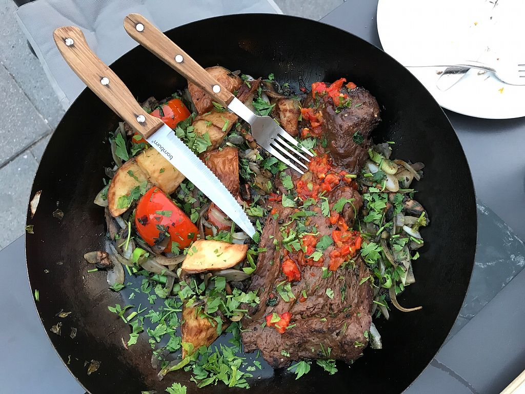 """Photo of Four One Six  by <a href=""""/members/profile/Brok%20O.%20Lee"""">Brok O. Lee</a> <br/>vegan """"steak"""" in a pan <br/> July 21, 2017  - <a href='/contact/abuse/image/84392/282959'>Report</a>"""