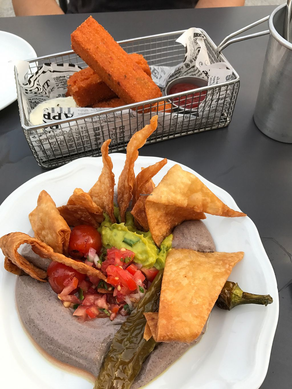 """Photo of Four One Six  by <a href=""""/members/profile/Brok%20O.%20Lee"""">Brok O. Lee</a> <br/>polenta fries and black bean hummus <br/> July 21, 2017  - <a href='/contact/abuse/image/84392/282971'>Report</a>"""