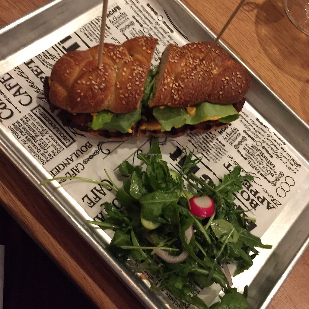 """Photo of Four One Six  by <a href=""""/members/profile/suzagord"""">suzagord</a> <br/>Vietnamese sandwich with fried mushroom """"squid""""  <br/> September 9, 2017  - <a href='/contact/abuse/image/84392/302228'>Report</a>"""