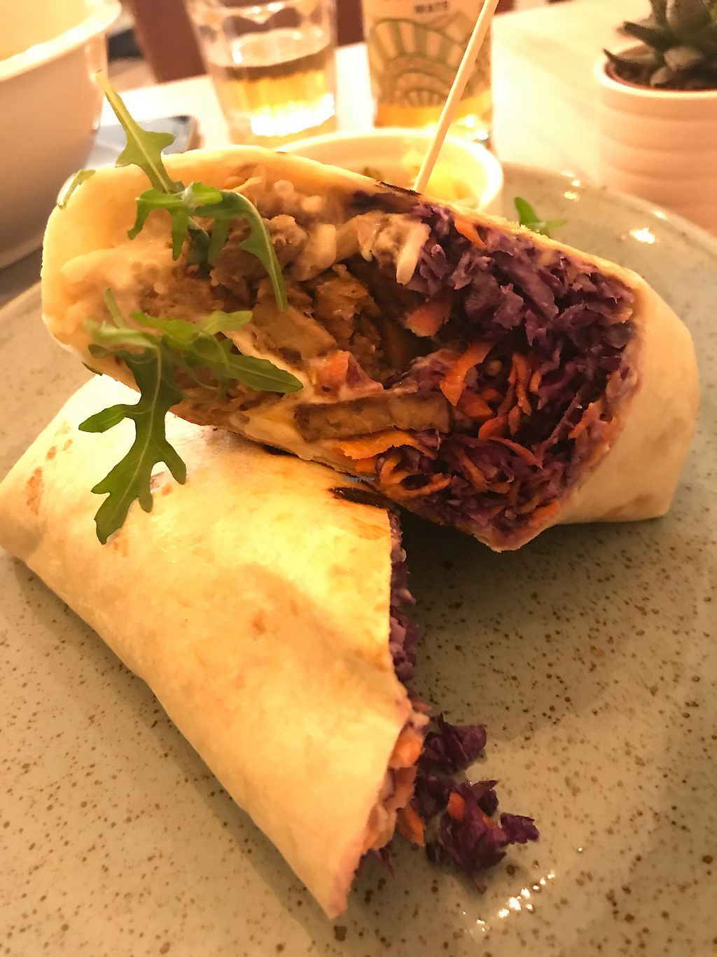 "Photo of Balans Bistro  by <a href=""/members/profile/Beaa"">Beaa</a> <br/>Seitan wrap <br/> January 13, 2018  - <a href='/contact/abuse/image/84394/346119'>Report</a>"