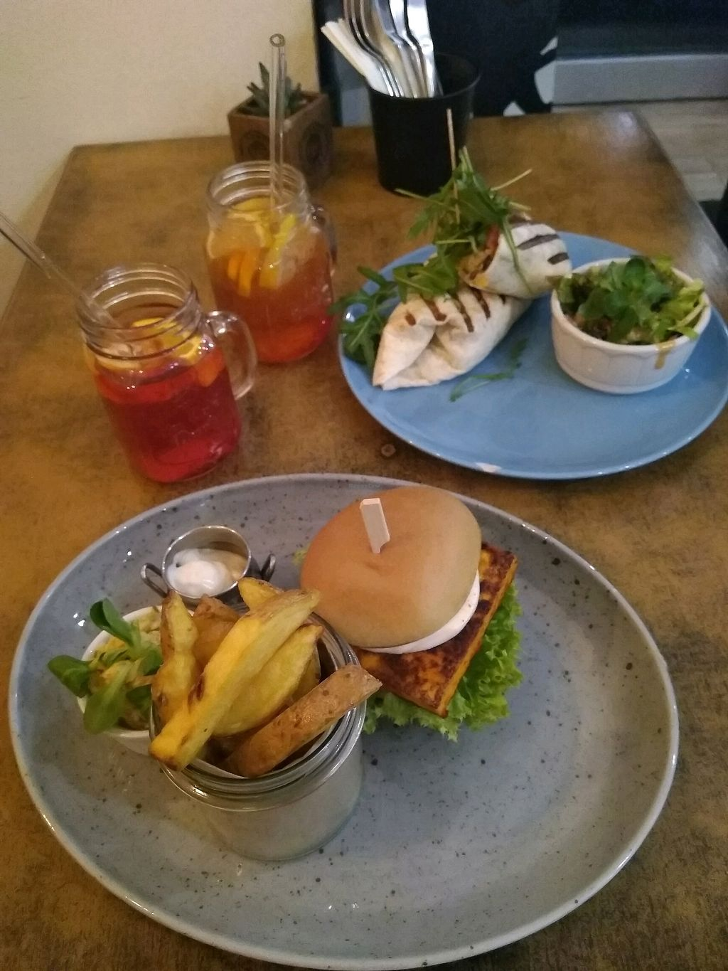 "Photo of Balans Bistro  by <a href=""/members/profile/soturikissanainen"">soturikissanainen</a> <br/>Best burger ever <br/> April 3, 2018  - <a href='/contact/abuse/image/84394/380270'>Report</a>"