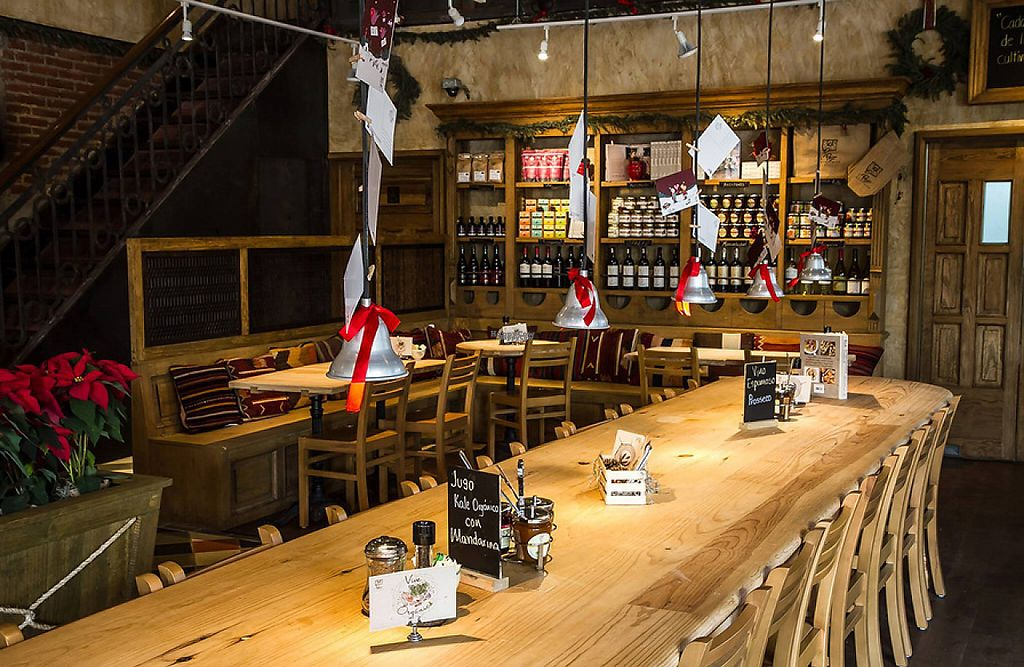 """Photo of Le Pain Quotidien - Las Palmas  by <a href=""""/members/profile/community"""">community</a> <br/>At the heart of the Lomas de Chapultepec, Le Pain Quotidien Las Palmas is located within an important building designed by architect Sordo Madaleno. Its interior design is a nice combination of rustic and industrial, and features a covered terrace and outdoor environment. This location also has Valet Parking service <br/> January 25, 2017  - <a href='/contact/abuse/image/84402/216591'>Report</a>"""