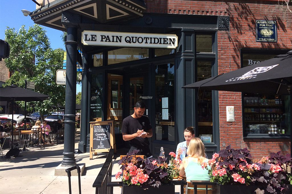 """Photo of Le Pain Quotidien - Lincoln Park  by <a href=""""/members/profile/community"""">community</a> <br/>Le Pain Quotidien Lincoln Park is located on the corner of West Armitage and Sheffield, LPQ Lincoln Park features an outdoor patio and a large dining room lined with exposed brick walls.  <br/> January 25, 2017  - <a href='/contact/abuse/image/84410/216588'>Report</a>"""