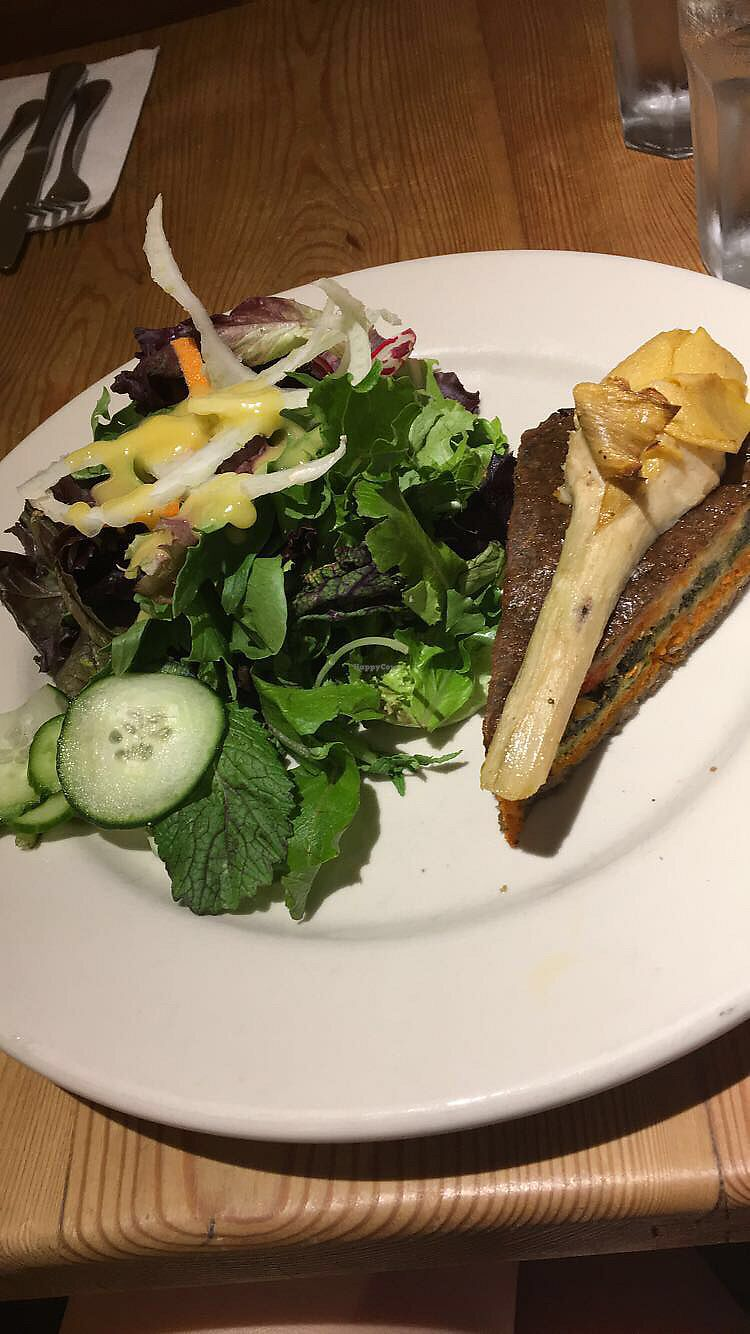 """Photo of Le Pain Quotidien  by <a href=""""/members/profile/CiaraNasuti"""">CiaraNasuti</a> <br/>Layered Vegetable Tart (Vegan) <br/> August 20, 2017  - <a href='/contact/abuse/image/84413/294939'>Report</a>"""