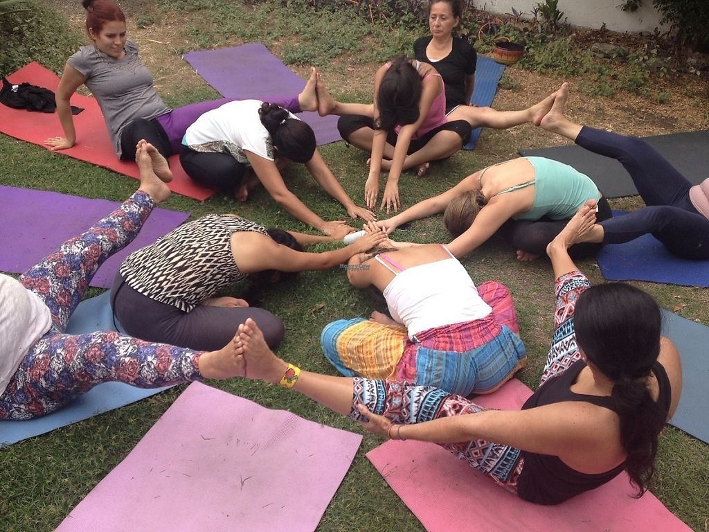 """Photo of El Jardin de Bhakti  by <a href=""""/members/profile/BhaktiHouse"""">BhaktiHouse</a> <br/>We practice yoga from Monday to Thursday at 7:30pm. All levels are welcome <br/> December 24, 2016  - <a href='/contact/abuse/image/84417/204378'>Report</a>"""