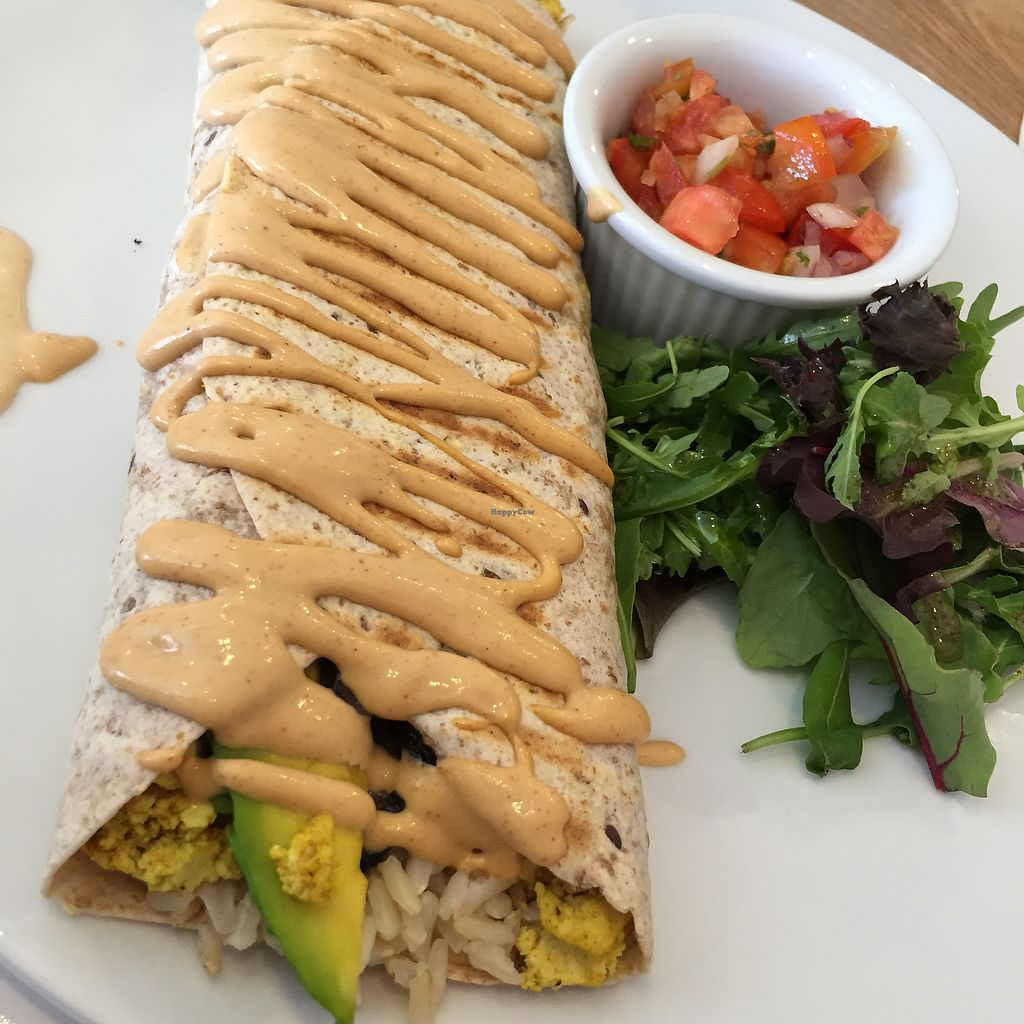 """Photo of Nourish Cafe  by <a href=""""/members/profile/Eefie"""">Eefie</a> <br/>All day breakfast burrito <br/> October 7, 2017  - <a href='/contact/abuse/image/84422/312526'>Report</a>"""