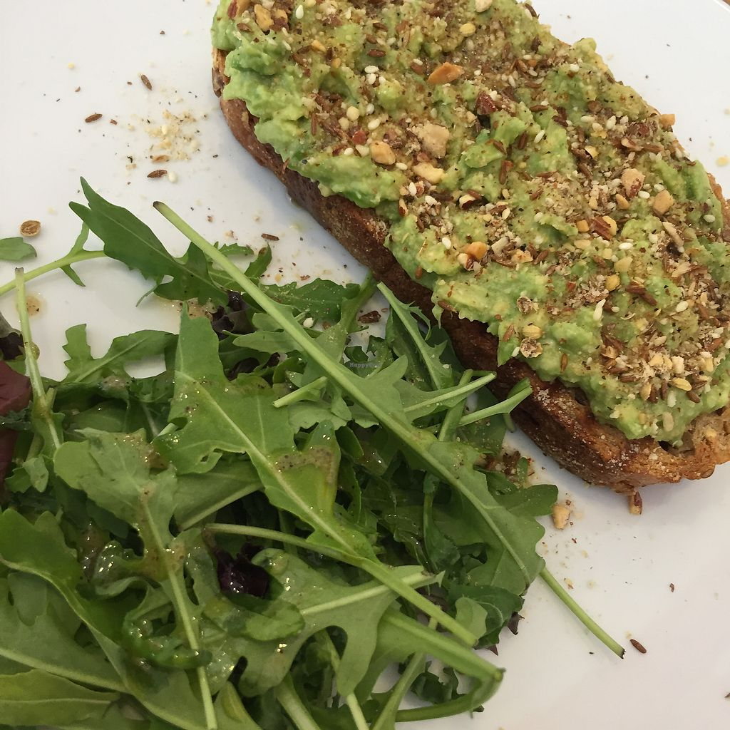 """Photo of Nourish Cafe  by <a href=""""/members/profile/Eefie"""">Eefie</a> <br/>Toast avocado with dukka <br/> October 7, 2017  - <a href='/contact/abuse/image/84422/312527'>Report</a>"""