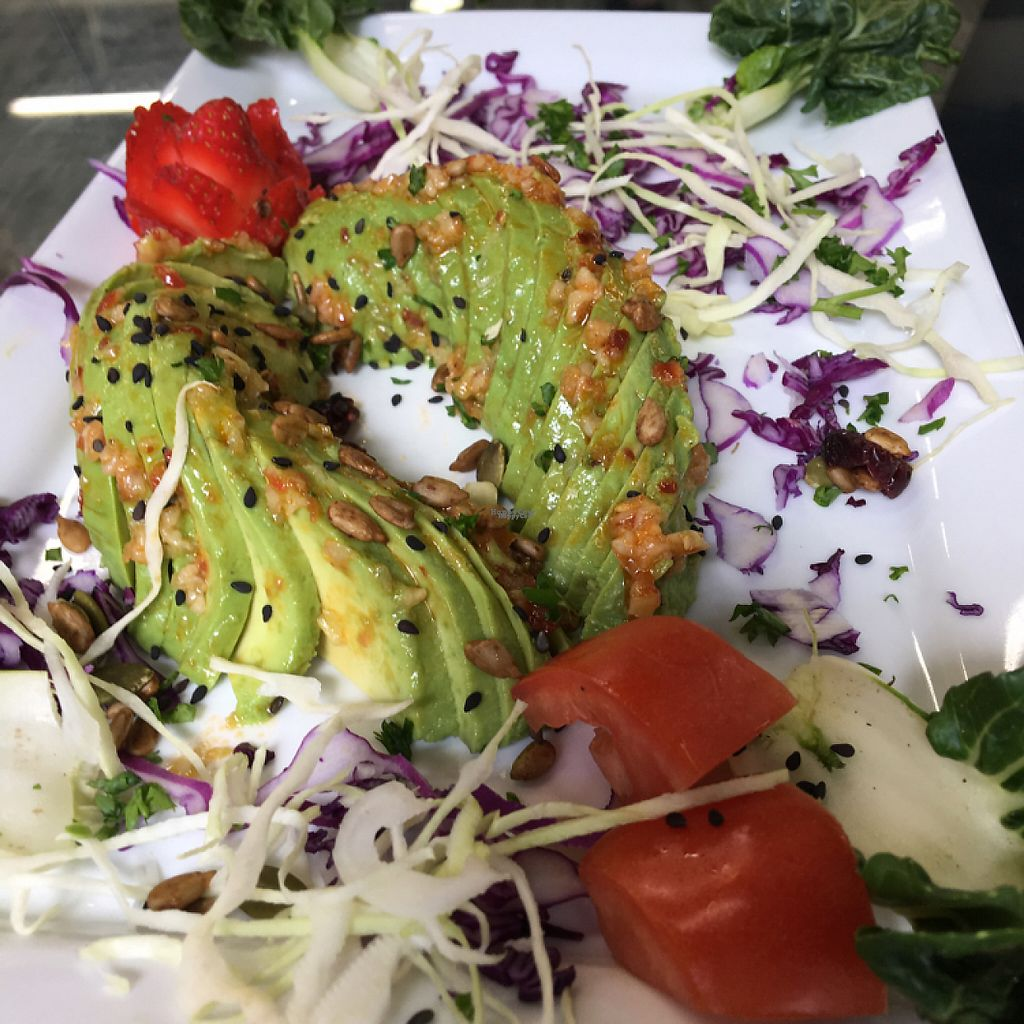 """Photo of Cleo's Mediterranean Cuisine  by <a href=""""/members/profile/Millie10"""">Millie10</a> <br/>avocado salad <br/> April 18, 2017  - <a href='/contact/abuse/image/84431/249530'>Report</a>"""