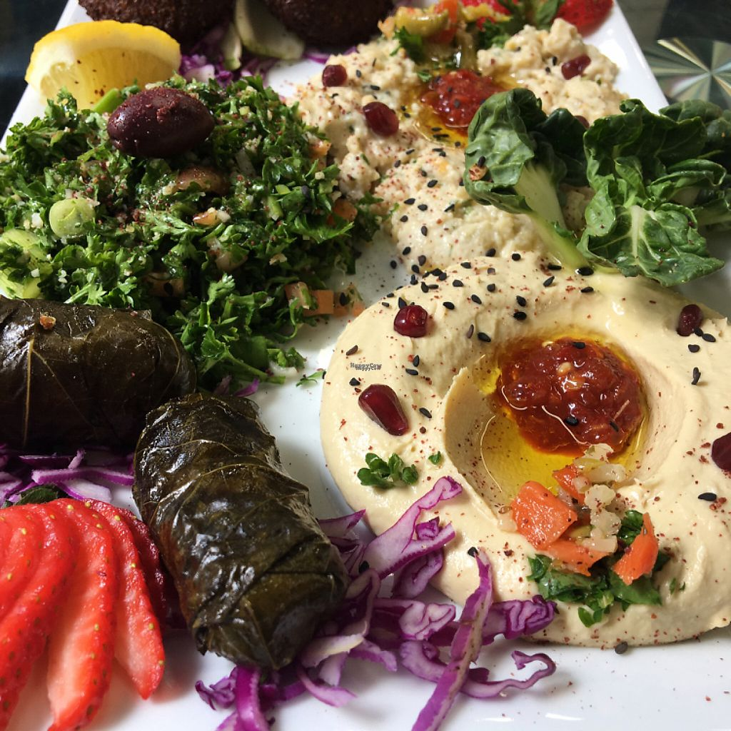 """Photo of Cleo's Mediterranean Cuisine  by <a href=""""/members/profile/Millie10"""">Millie10</a> <br/>vegetarian platter <br/> April 18, 2017  - <a href='/contact/abuse/image/84431/249531'>Report</a>"""